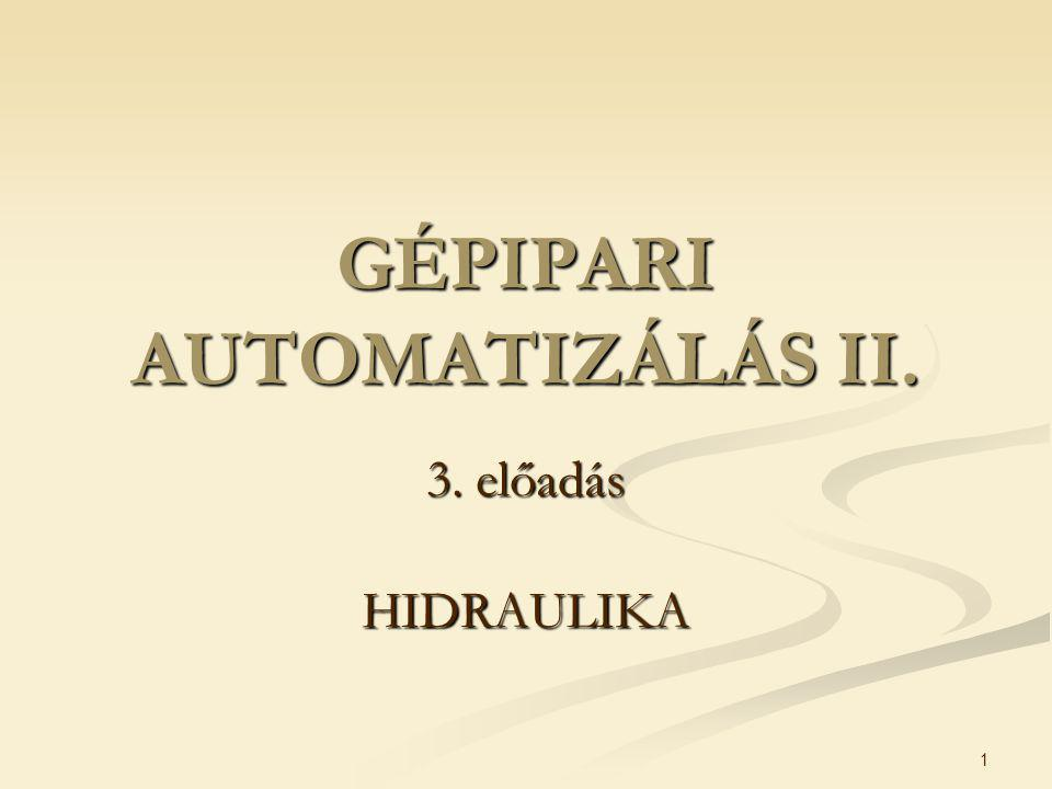 GÉPIPARI AUTOMATIZÁLÁS II.