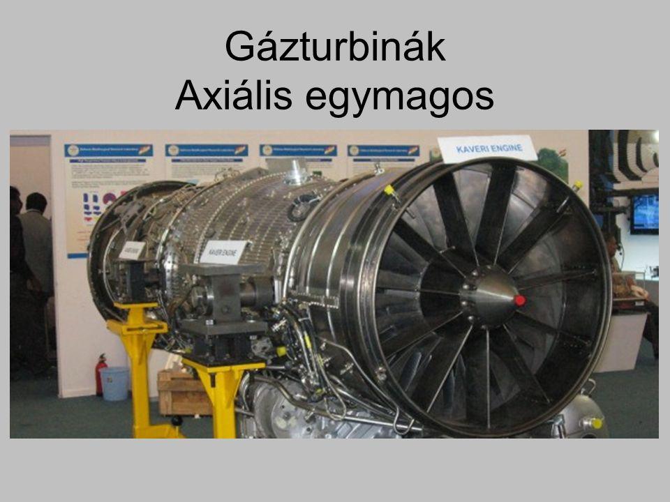 Gázturbinák Axiális egymagos
