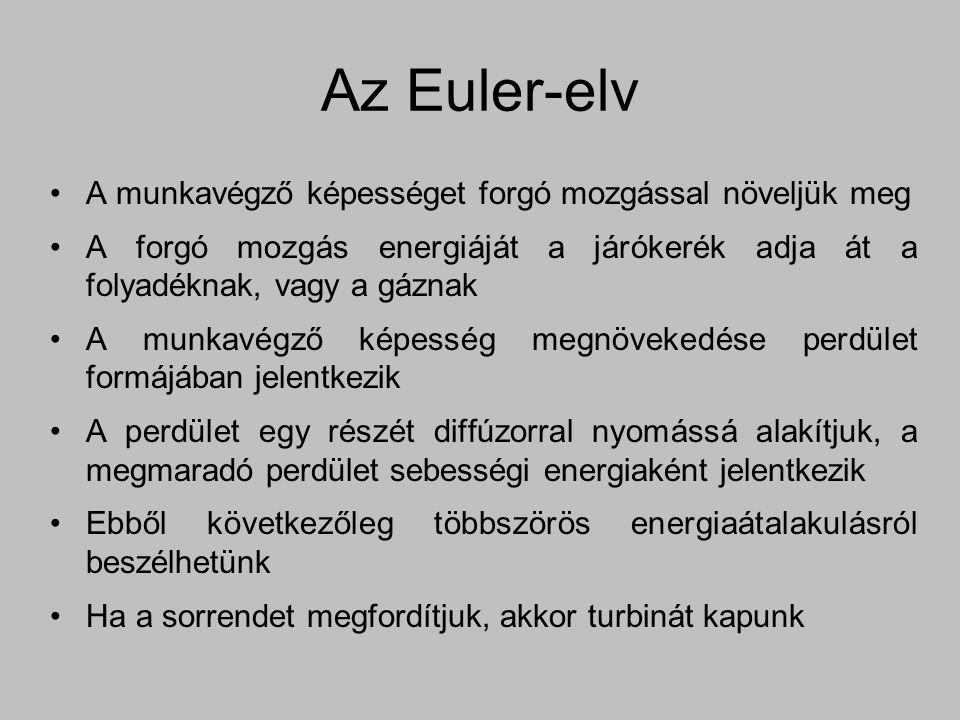 Az Euler-elv A munkavégző képességet forgó mozgással növeljük meg