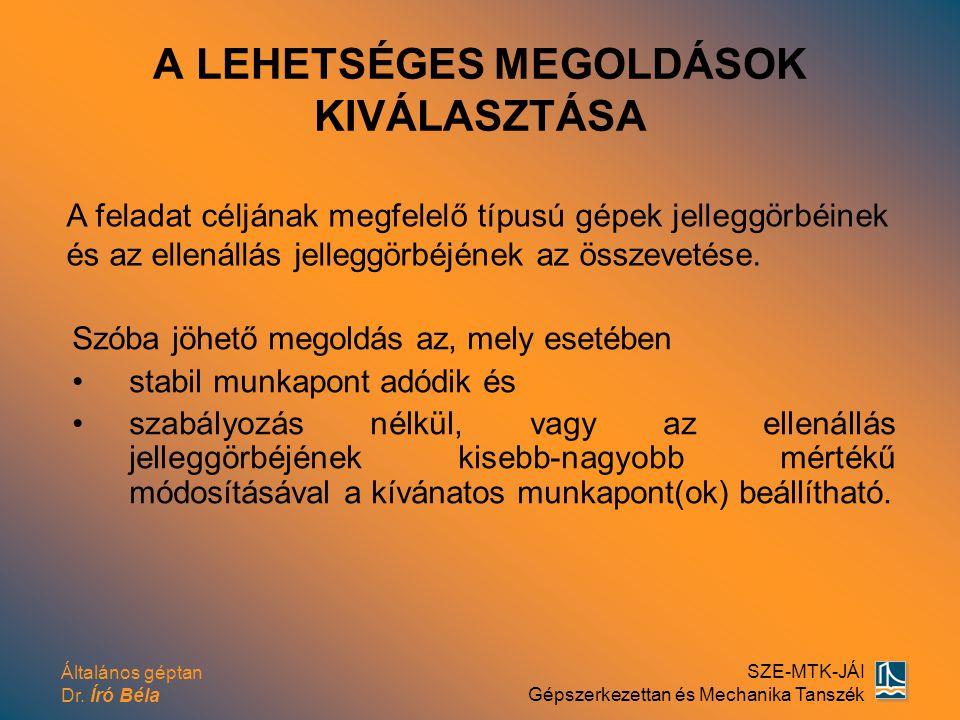 A LEHETSÉGES MEGOLDÁSOK KIVÁLASZTÁSA