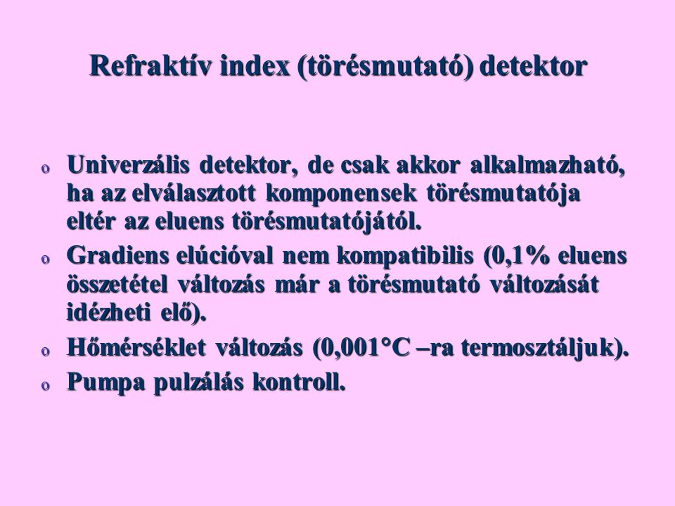 Refraktív index (törésmutató) detektor