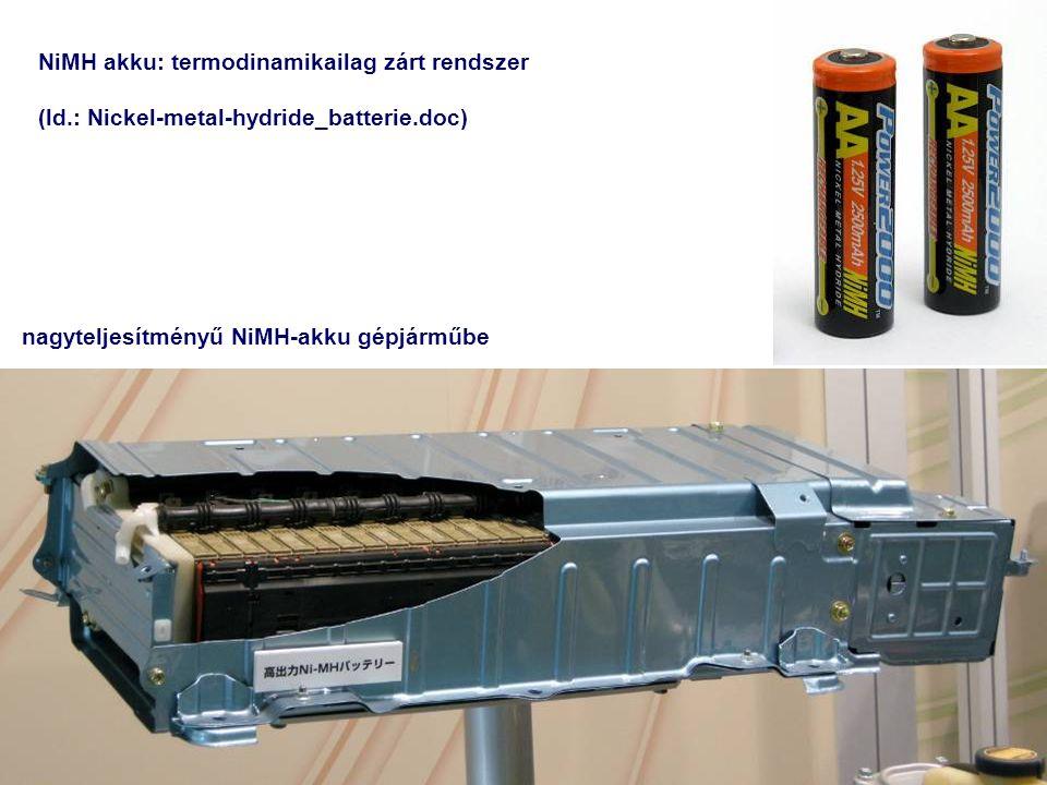NiMH akku: termodinamikailag zárt rendszer