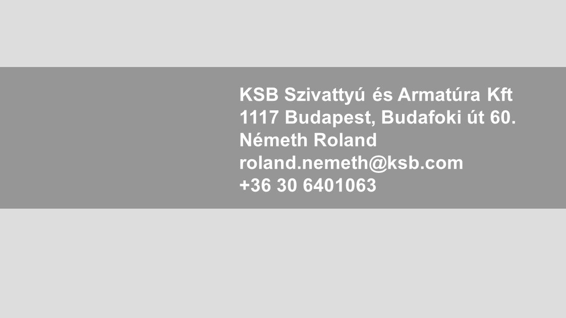 KSB Szivattyú és Armatúra Kft
