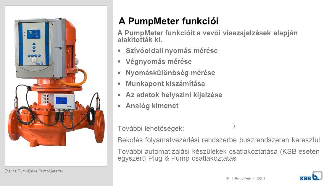 A PumpMeter funkciói A PumpMeter funkcióit a vevői visszajelzések alapján alakították ki. Szívóoldali nyomás mérése.