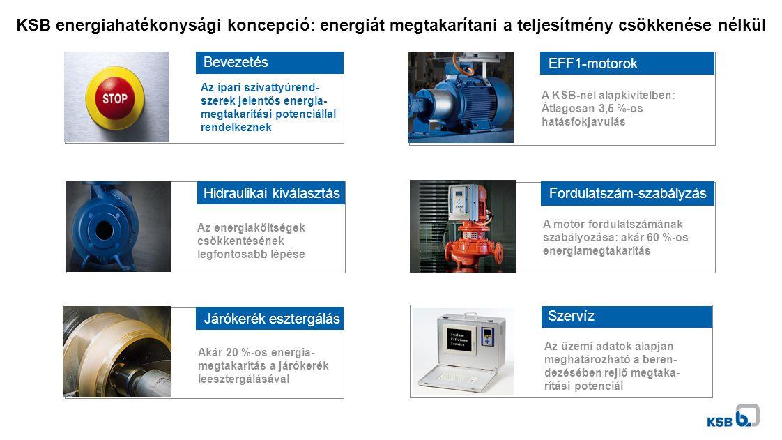 KSB energiahatékonysági koncepció: energiát megtakarítani a teljesítmény csökkenése nélkül