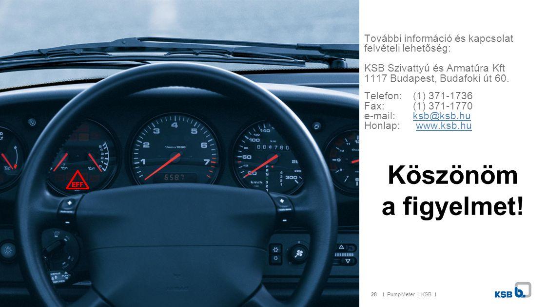 További információ és kapcsolat felvételi lehetőség: KSB Szivattyú és Armatúra Kft 1117 Budapest, Budafoki út 60.
