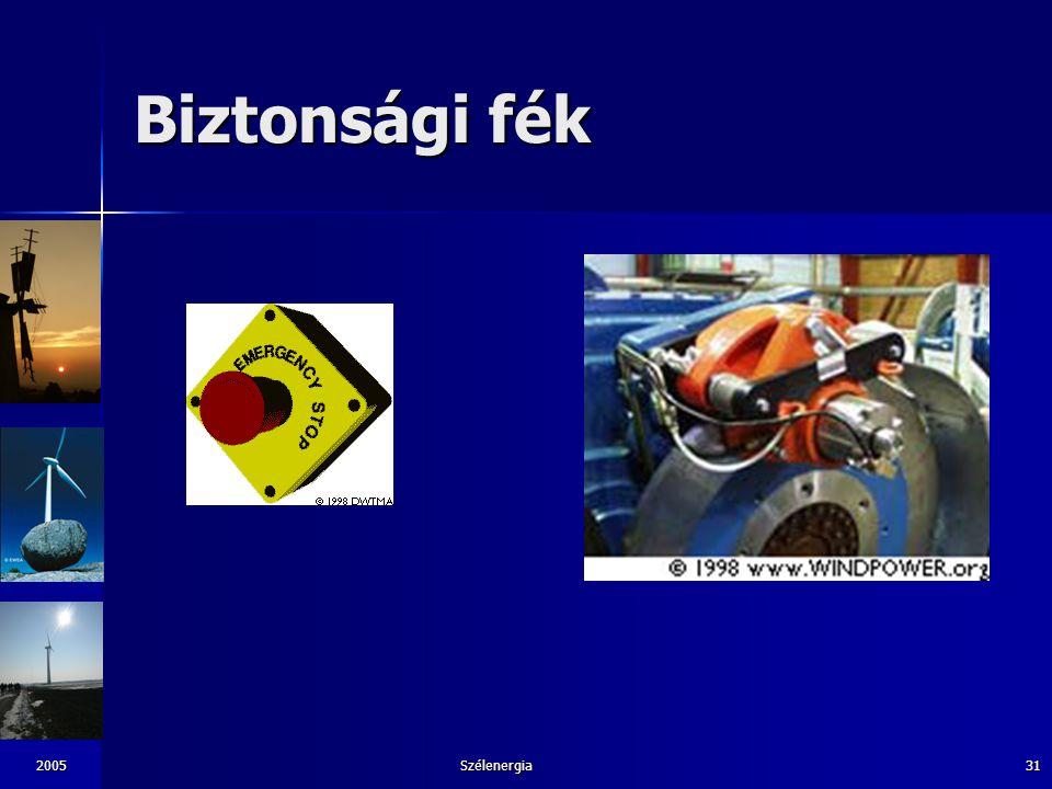 Biztonsági fék 2005 Szélenergia