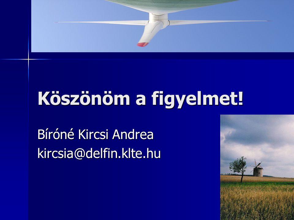 Bíróné Kircsi Andrea kircsia@delfin.klte.hu