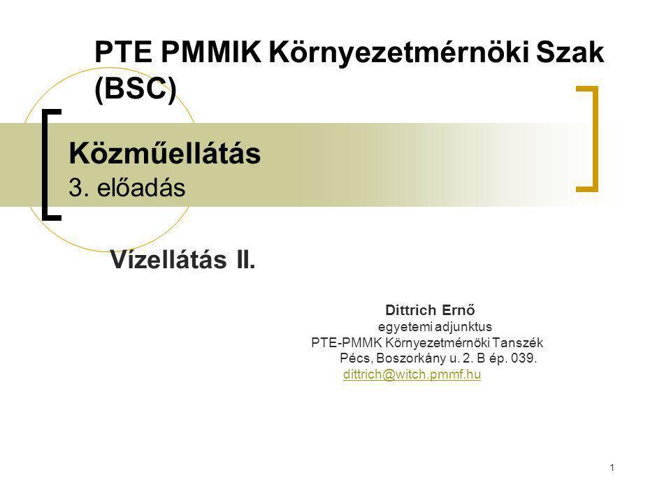 PTE PMMIK Környezetmérnöki Szak (BSC)