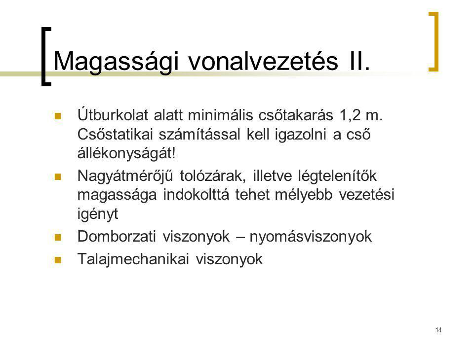 Magassági vonalvezetés II.