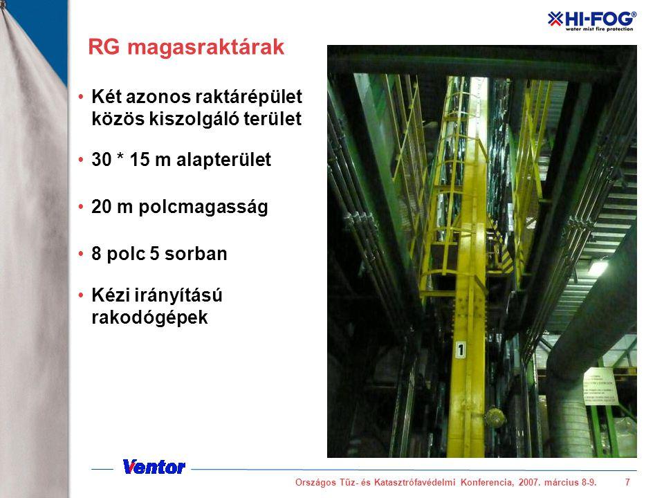 RG magasraktárak Két azonos raktárépület közös kiszolgáló terület