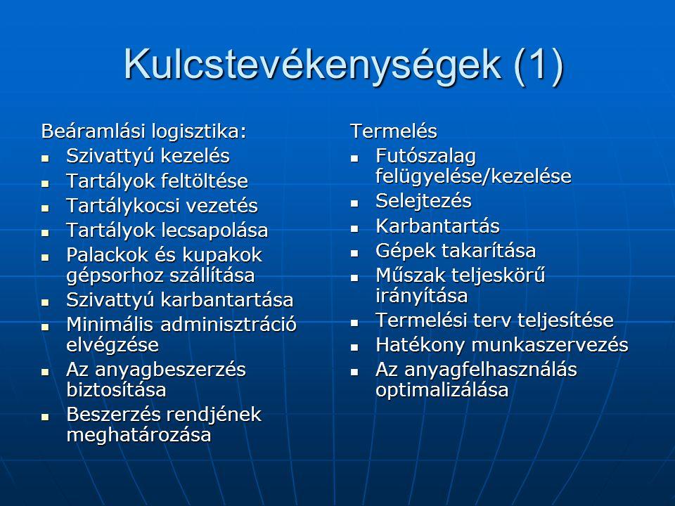 Kulcstevékenységek (1)