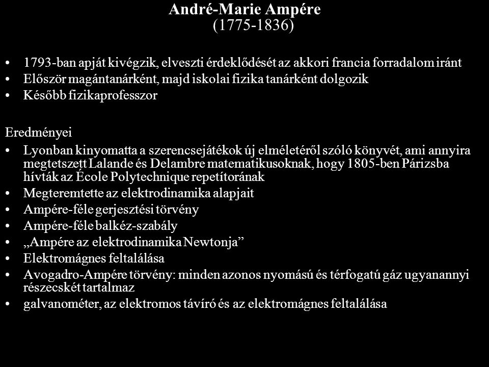 André-Marie Ampére (1775-1836)