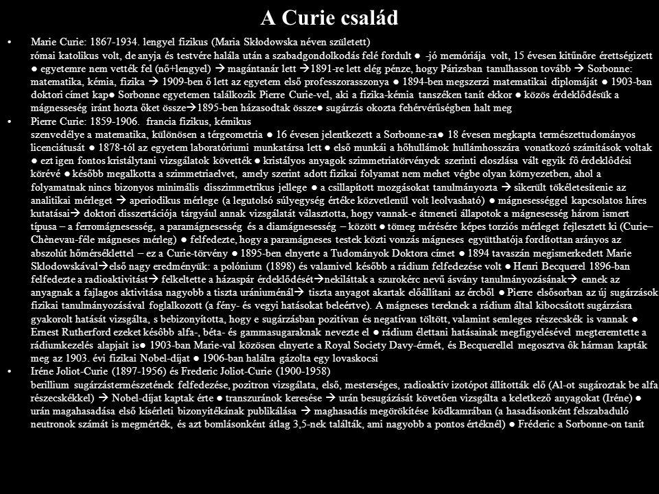A Curie család