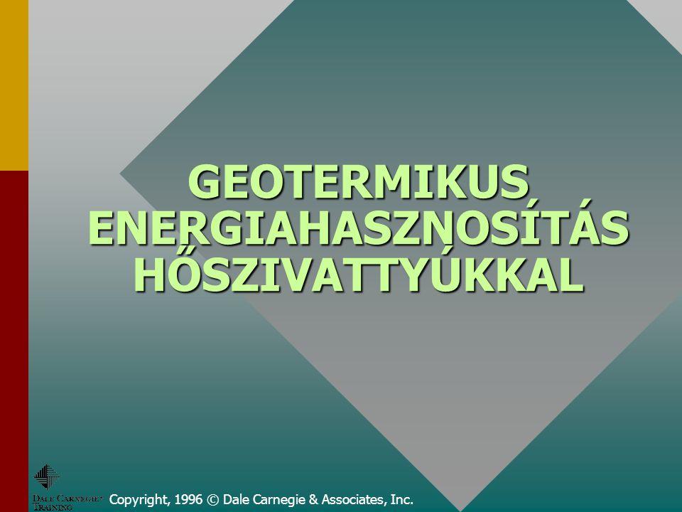 GEOTERMIKUS ENERGIAHASZNOSÍTÁS HŐSZIVATTYÚKKAL