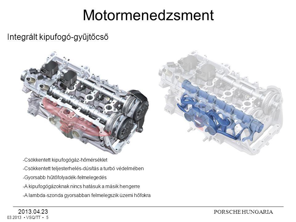 Motormenedzsment Integrált kipufogó-gyűjtőcső 2013.04.23