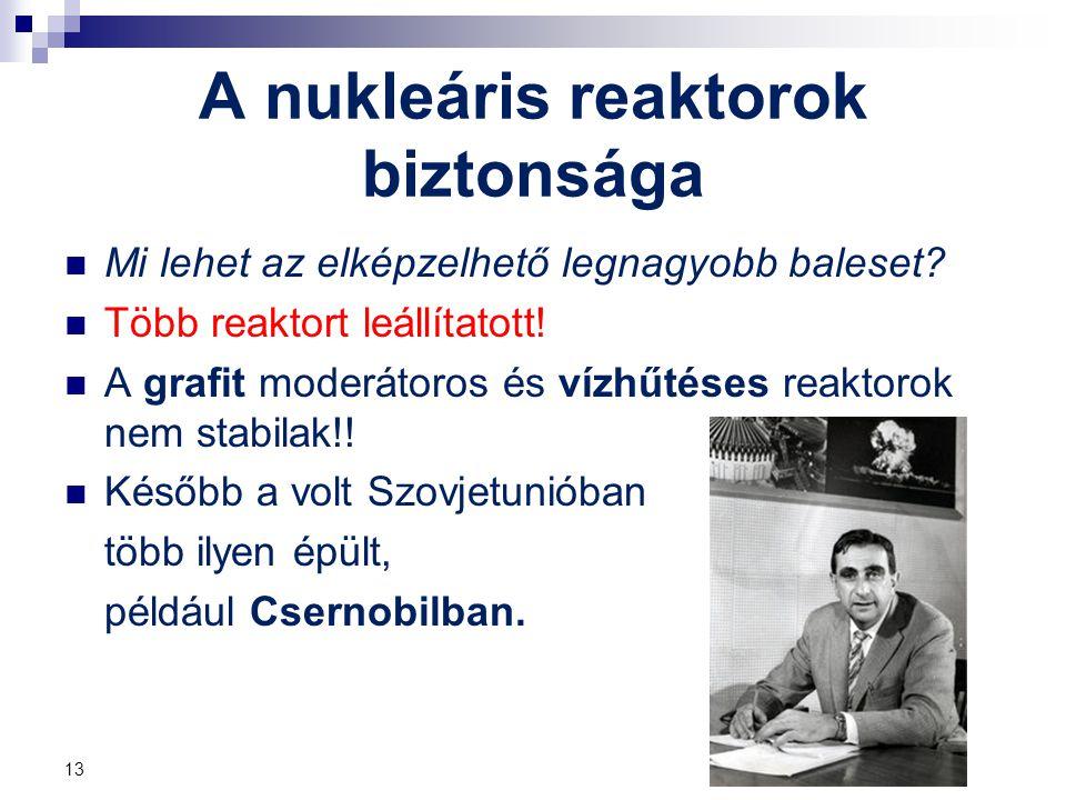A nukleáris reaktorok biztonsága