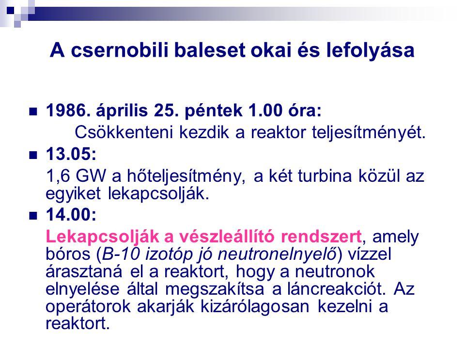 A csernobili baleset okai és lefolyása