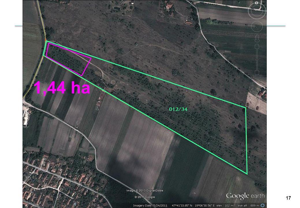 1,44 ha