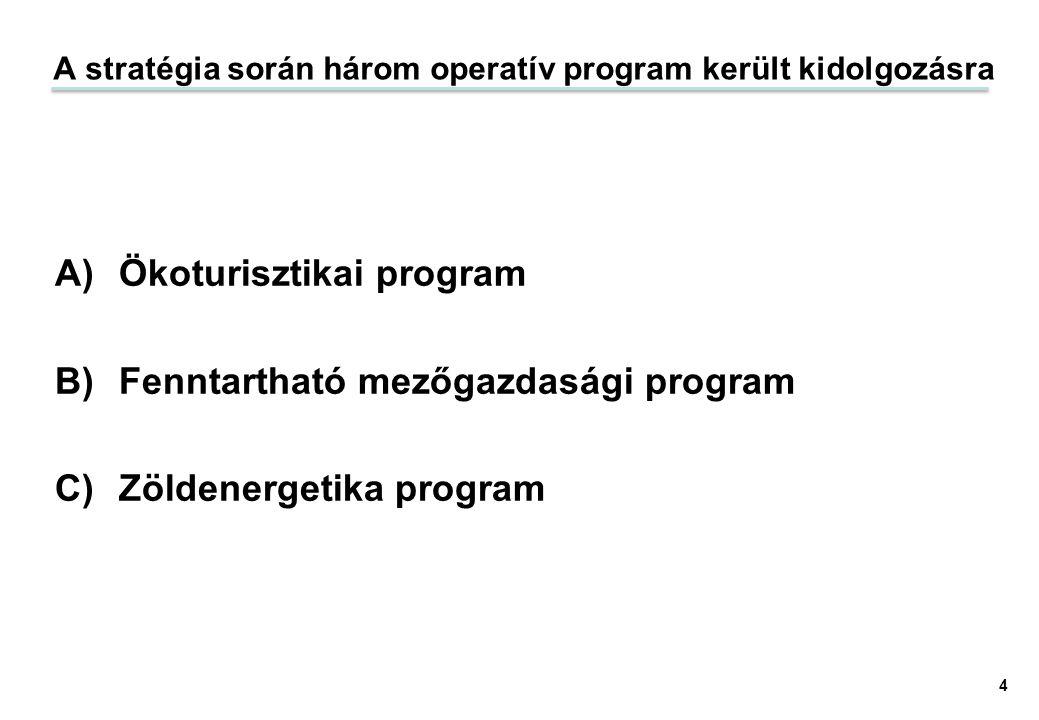 A stratégia során három operatív program került kidolgozásra