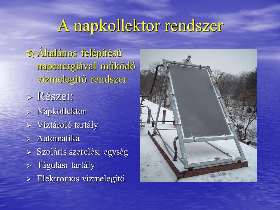 A napkollektor rendszer