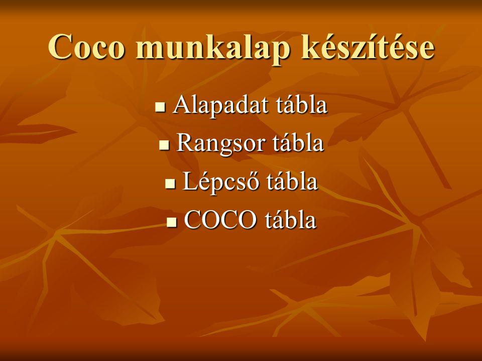 Coco munkalap készítése