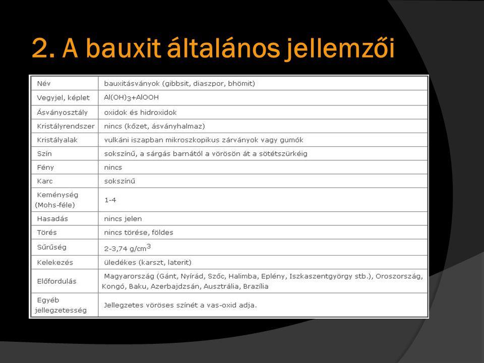 2. A bauxit általános jellemzői