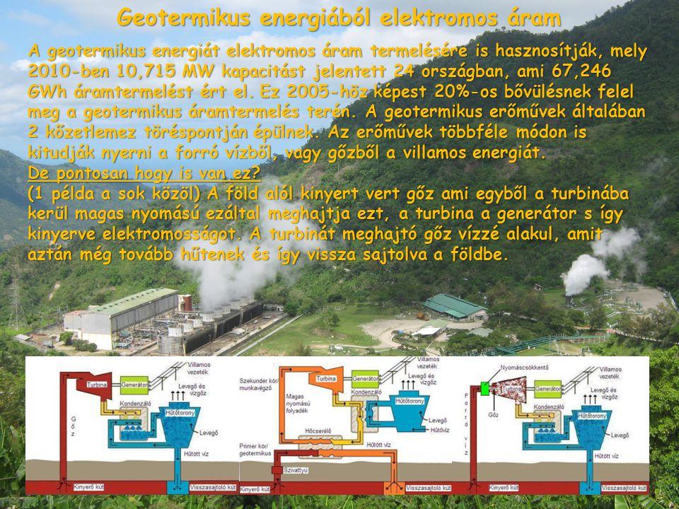 Geotermikus energiából elektromos áram