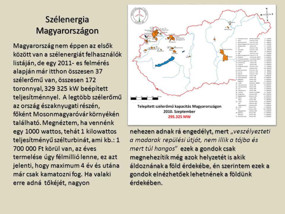 Szélenergia Magyarországon
