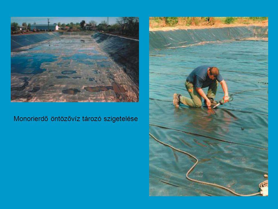 Monorierdő öntözővíz tározó szigetelése
