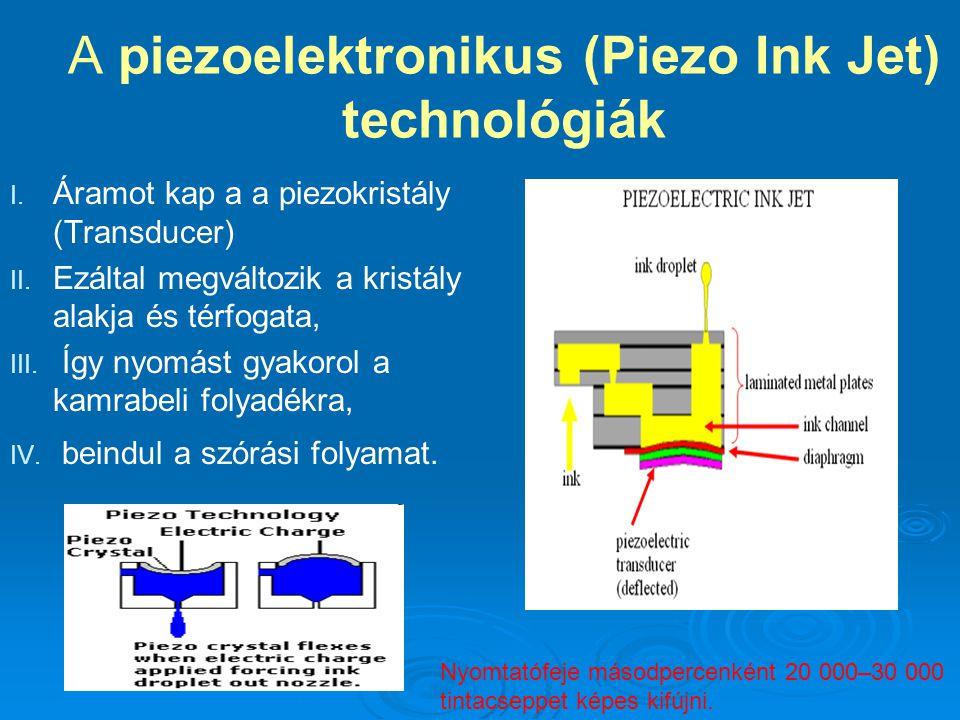 A piezoelektronikus (Piezo Ink Jet) technológiák