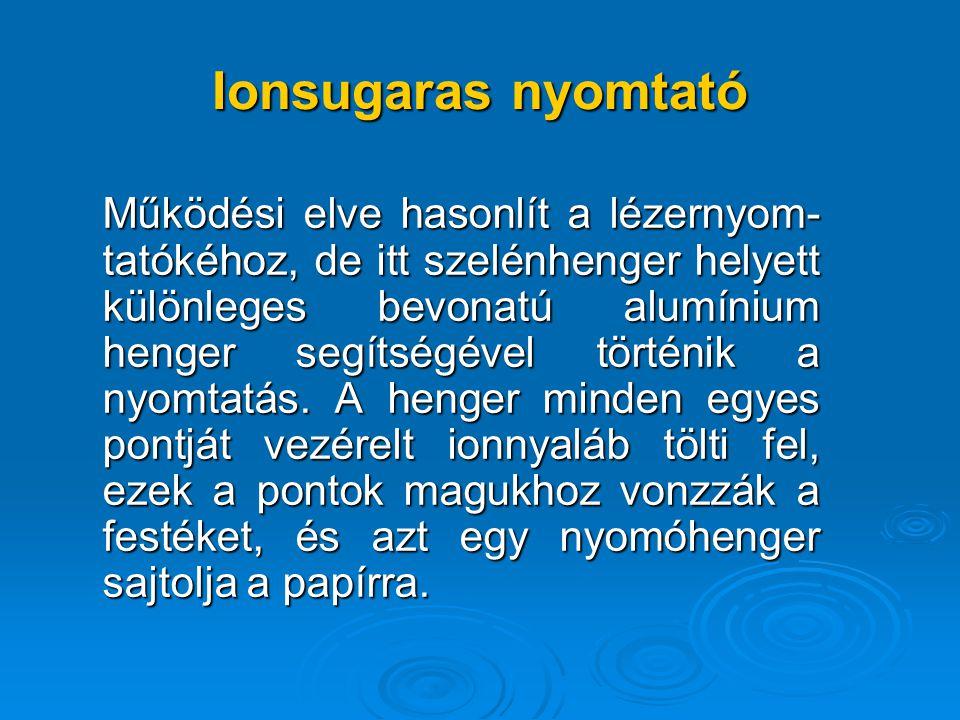 Ionsugaras nyomtató