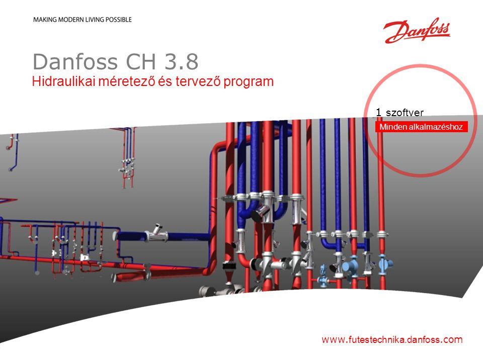 Danfoss CH 3.8 Hidraulikai méretező és tervező program 1 szoftver