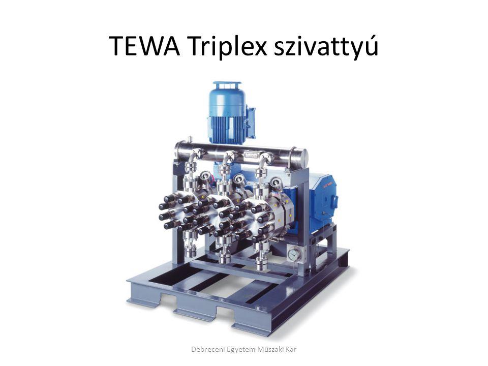TEWA Triplex szivattyú