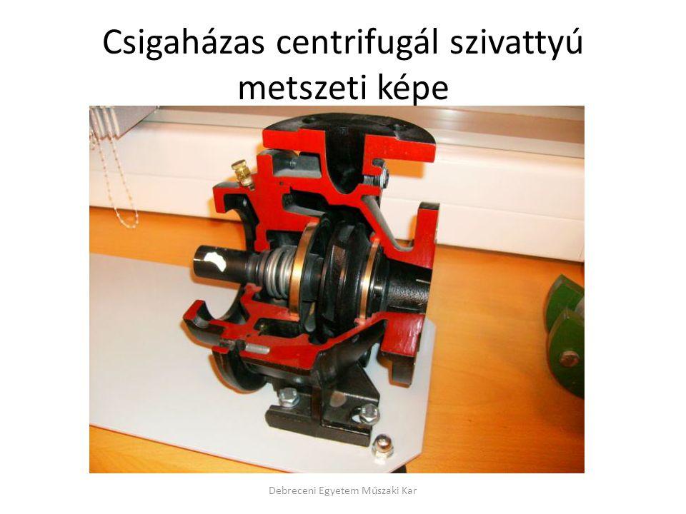 Csigaházas centrifugál szivattyú metszeti képe