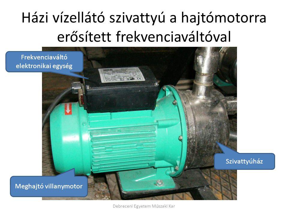 Házi vízellátó szivattyú a hajtómotorra erősített frekvenciaváltóval