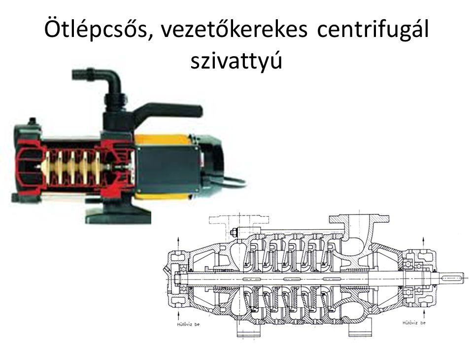 Ötlépcsős, vezetőkerekes centrifugál szivattyú