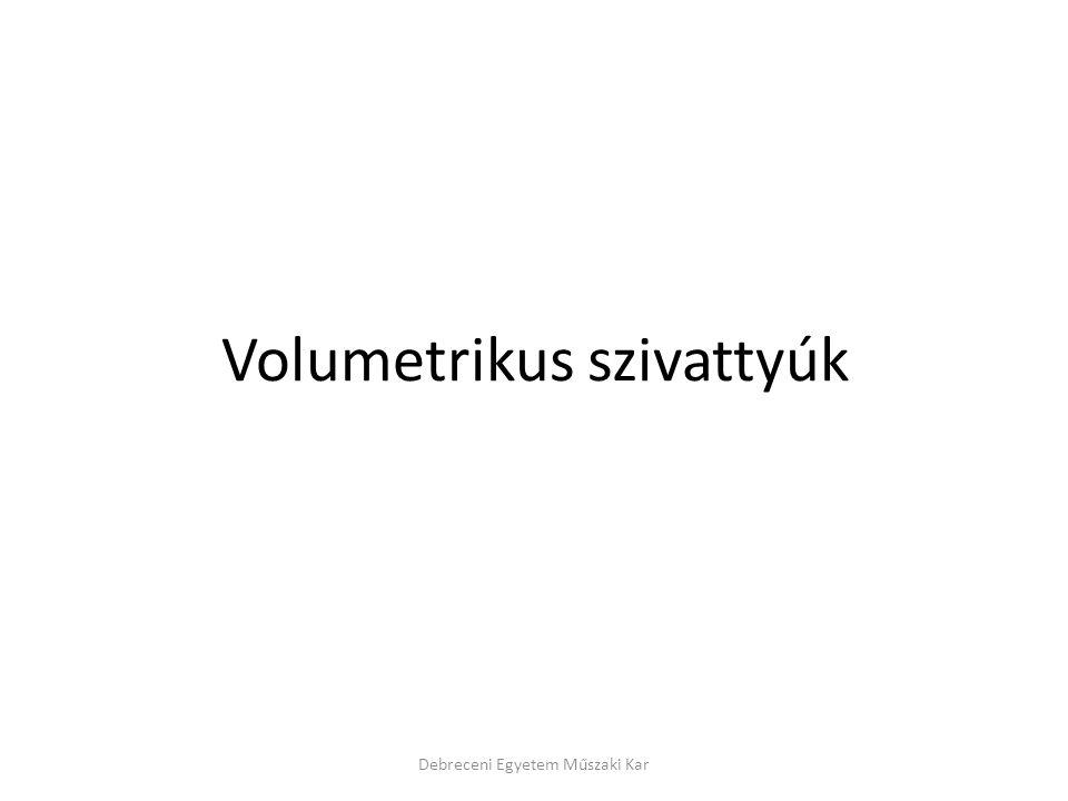Volumetrikus szivattyúk