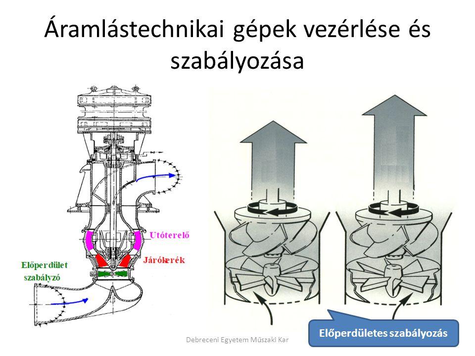 Áramlástechnikai gépek vezérlése és szabályozása
