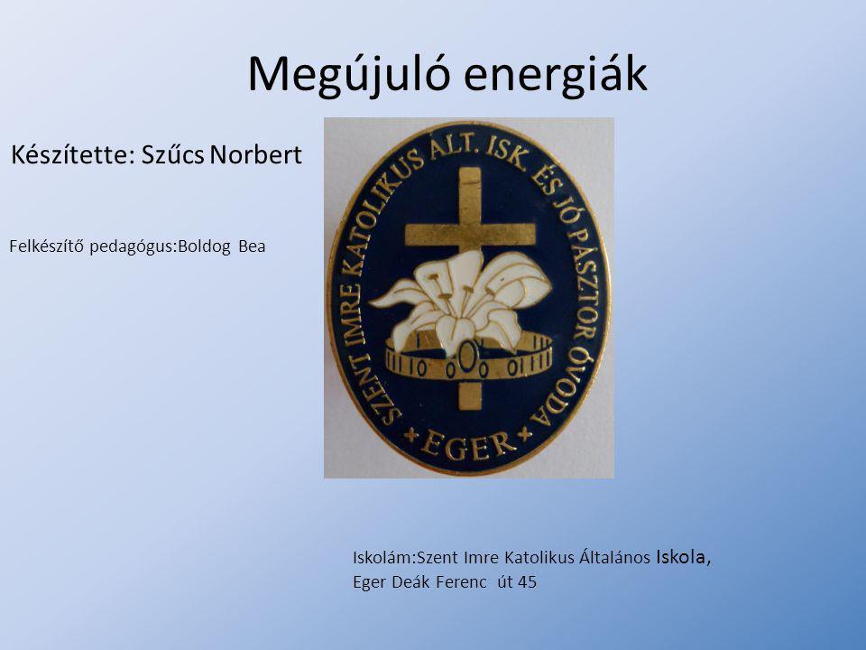 Megújuló energiák Készítette: Szűcs Norbert