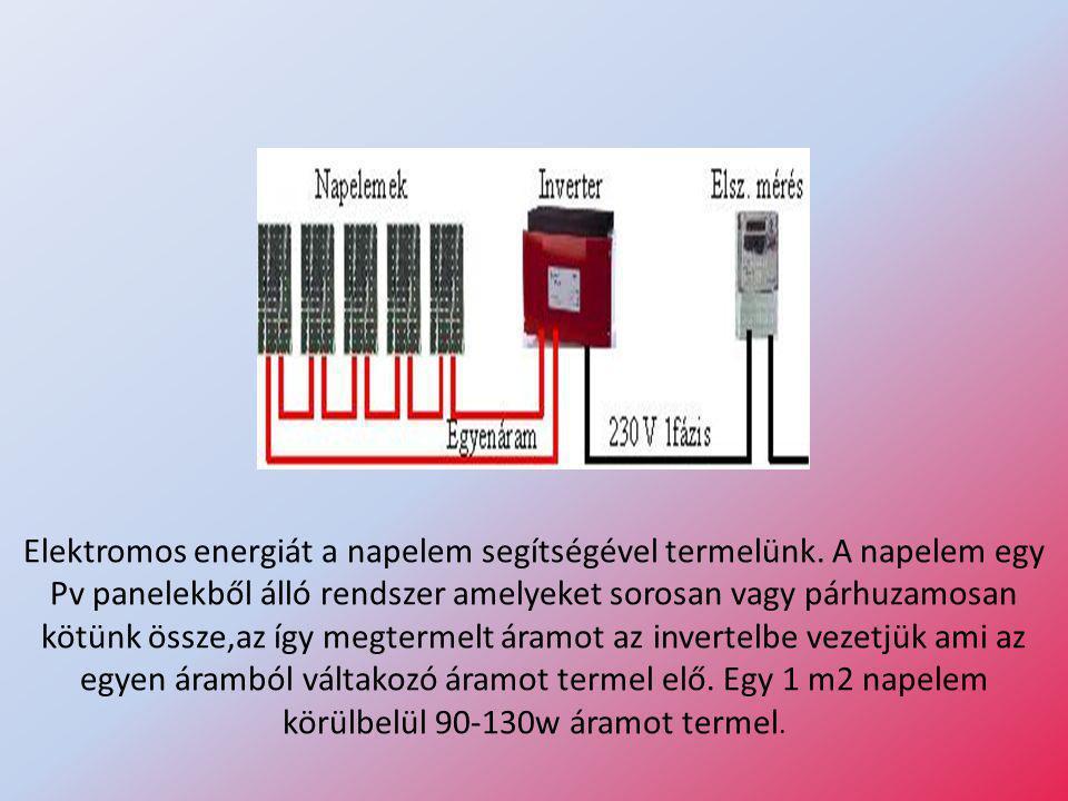 Elektromos energiát a napelem segítségével termelünk