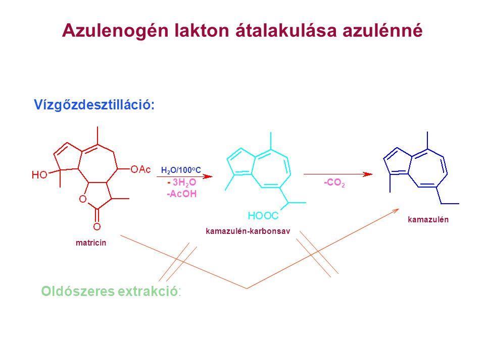 Azulenogén lakton átalakulása azulénné