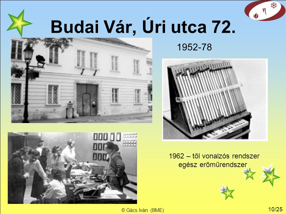 1962 – től vonalzós rendszer