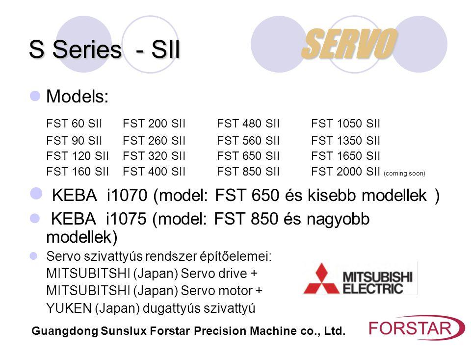 S Series - SII SERVO KEBA i1070 (model: FST 650 és kisebb modellek )