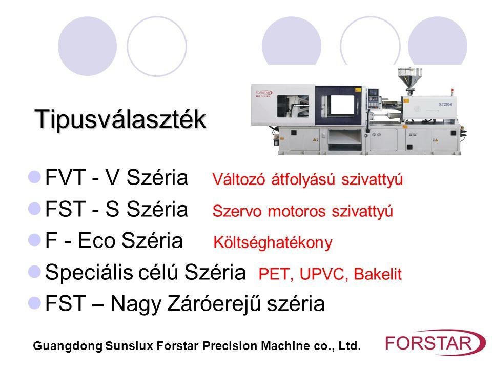 Tipusválaszték FVT - V Széria Változó átfolyású szivattyú