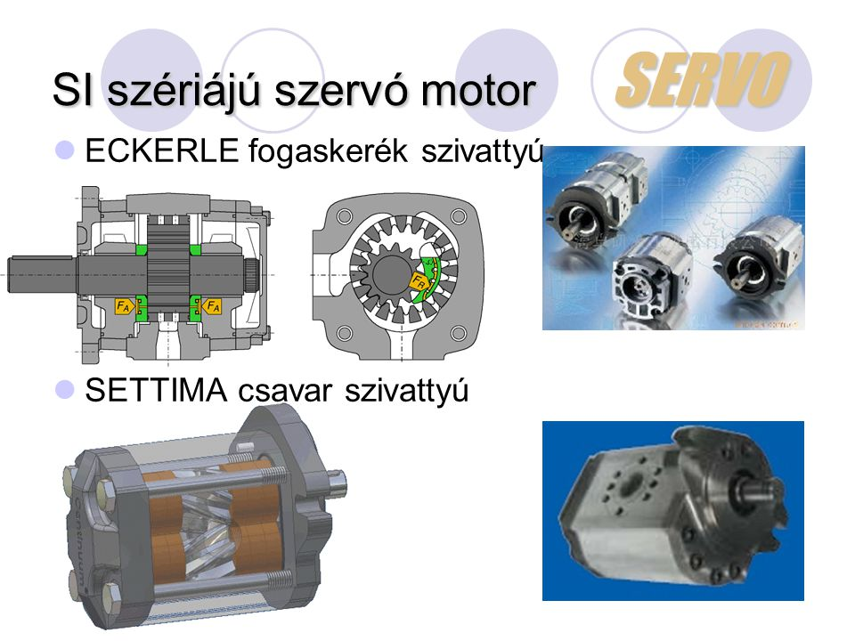 SI szériájú szervó motor SERVO