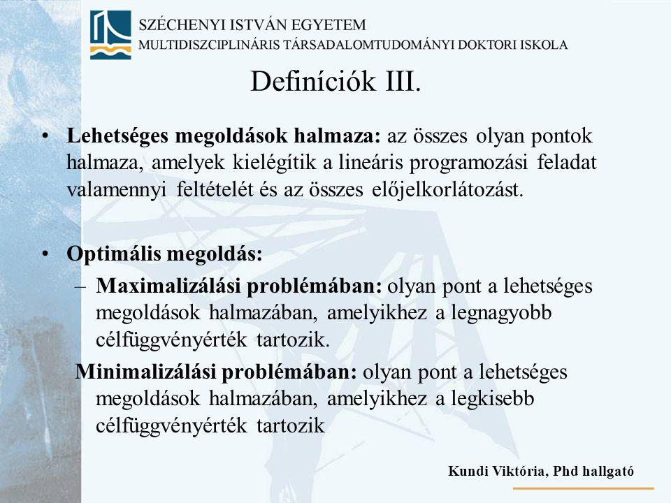 Definíciók III.
