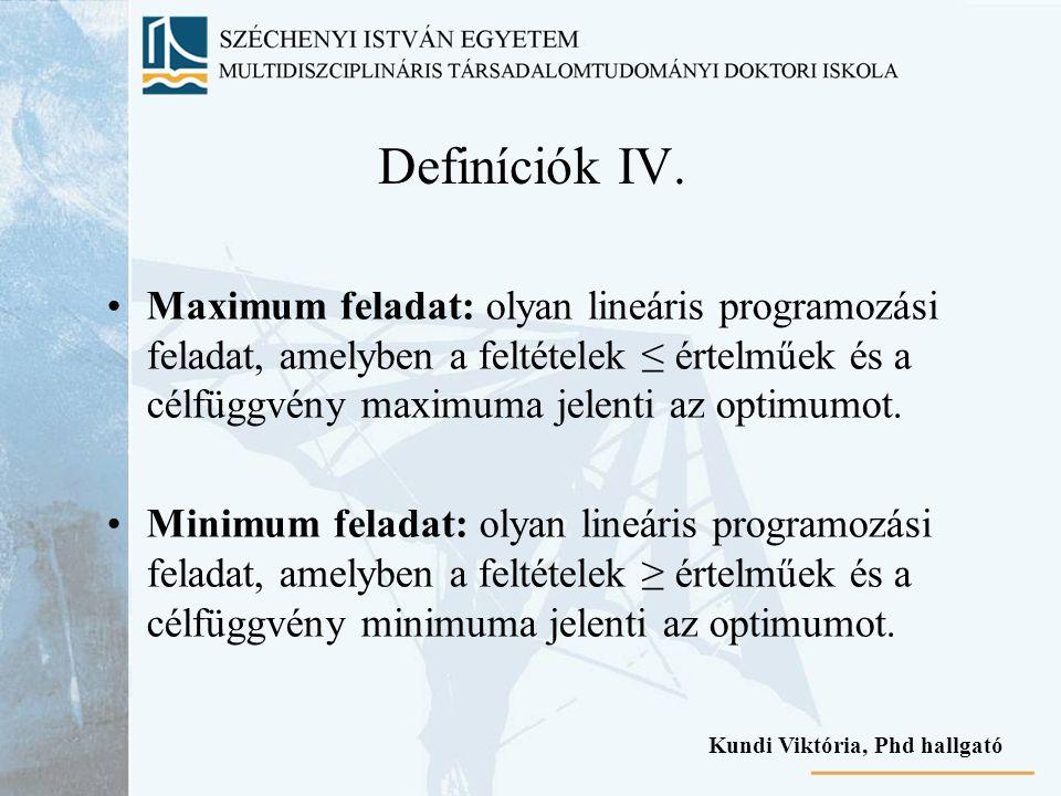 Definíciók IV.