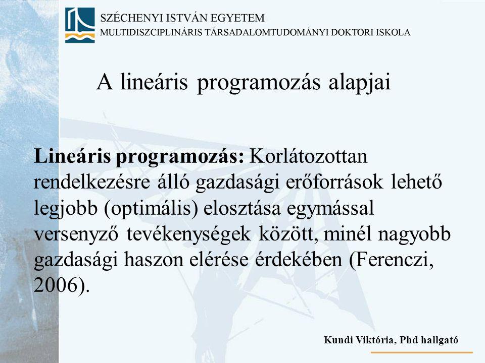 A lineáris programozás alapjai