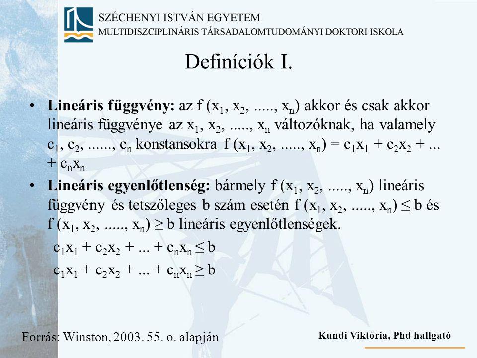 Definíciók I.